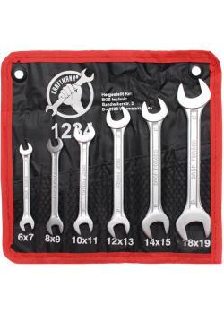 Doppelmaulschlüssel-Satz -  6x7 mm bis 17x19 mm - 6-teilig