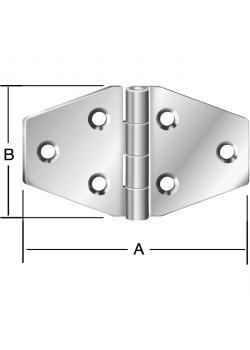 Kistenband - gerollt - Edelstahl Rostfrei - Maße 70 x 40 mm - 20 Stück