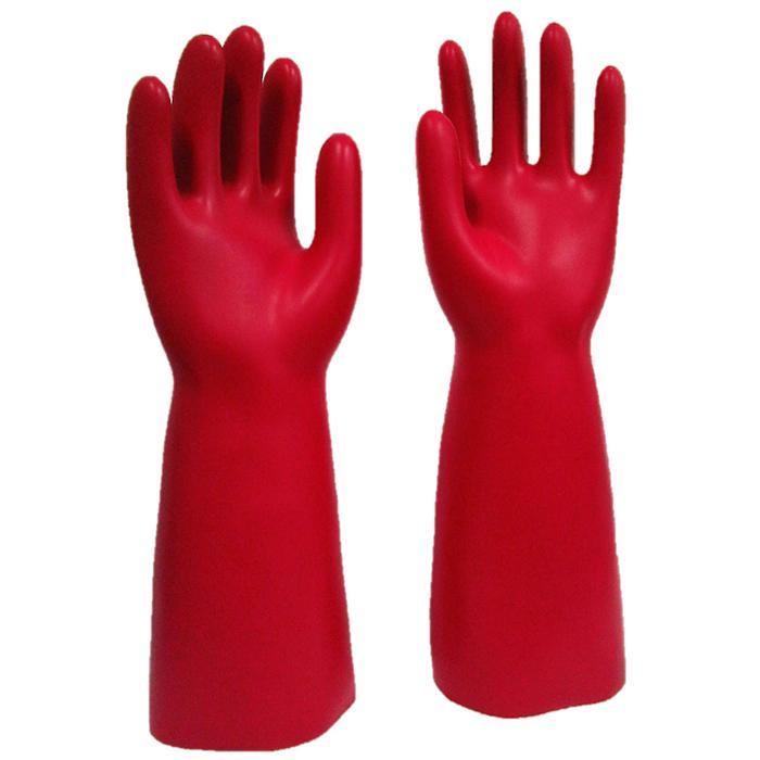 Störlichtbogengeprüfte elektrisch isolierende Handschuhe - Größe 8 bis 11 - Länge 360 mm - rot
