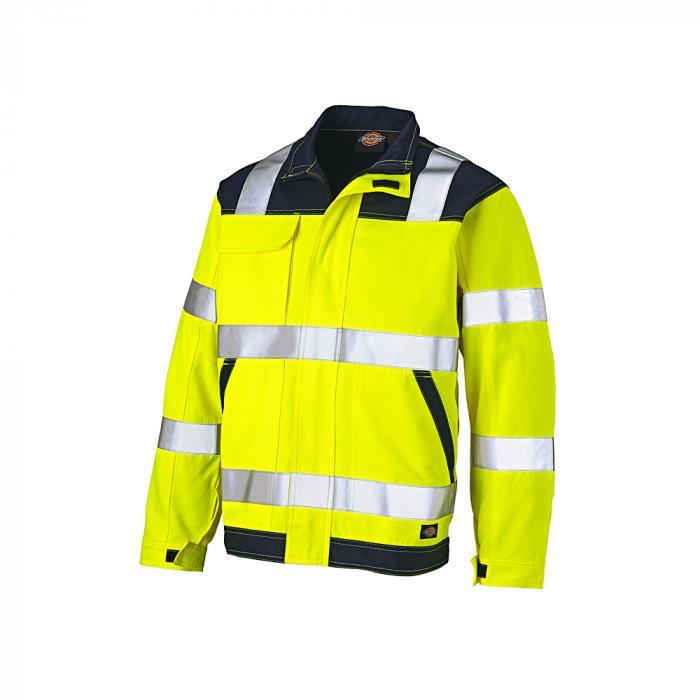 Giacca alta visibilità Everyday - Dickies - altamente visibile - taglia dalla S alla 4XL - giallo / blu navy
