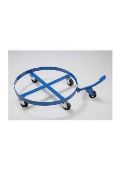 Fassroller - Stahl - für 200-Liter-Fässer - mit Kippmechanik - 4 Lenkrollen - blau