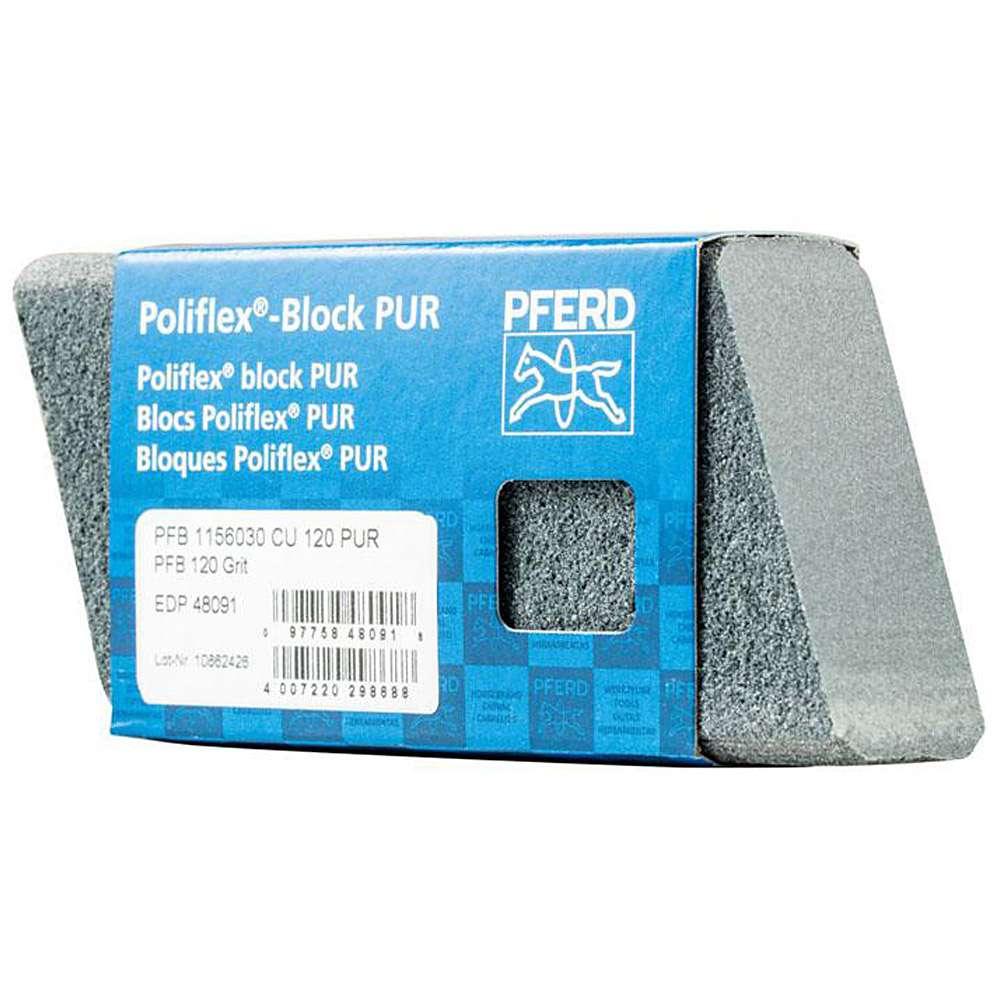 Poliflex-Blöcke PUR - PFERD Poliflex® - Länge 115 mm - Breite 60 mm - Höhe 30 mm - Korngröße 60 bis 240 - VE 5 Stück - Preis per VE