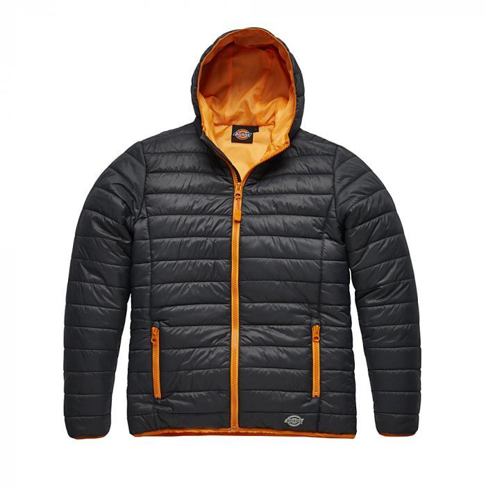 Vatterad jacka Stamford - Dickies - storlek S till 4XL - grå / orange