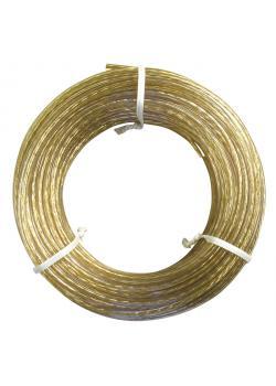 Stålvajer - Ø 3,5 mm - mässings pläterad - längd 30 m