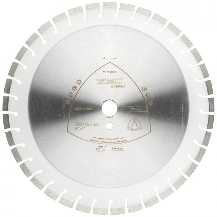 Diamanttrennscheibe DT 600 U - Durchmesser 300 bis 500 mm - Bohrung 20 bis 30 mm - lasergeschweißt - Kurzzahn