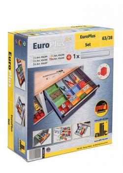 Reservlådor EuroPlus Set 63/22 - halkfri matta - 27 innerlådor