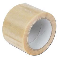 PVC tejp - Rulle 75 mm x 66 m. - genomskinlig - 24 rullar per förpackning