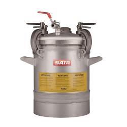 SATA FDG 24N - mit Einfachdruckminderer, Druckluftrührwerk mit Getriebe - Materialdruckbehälter