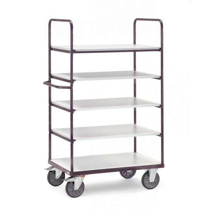 ESD Mensola trolley - con 5 ripiani - altezza 1.800 millimetri - 600 kg