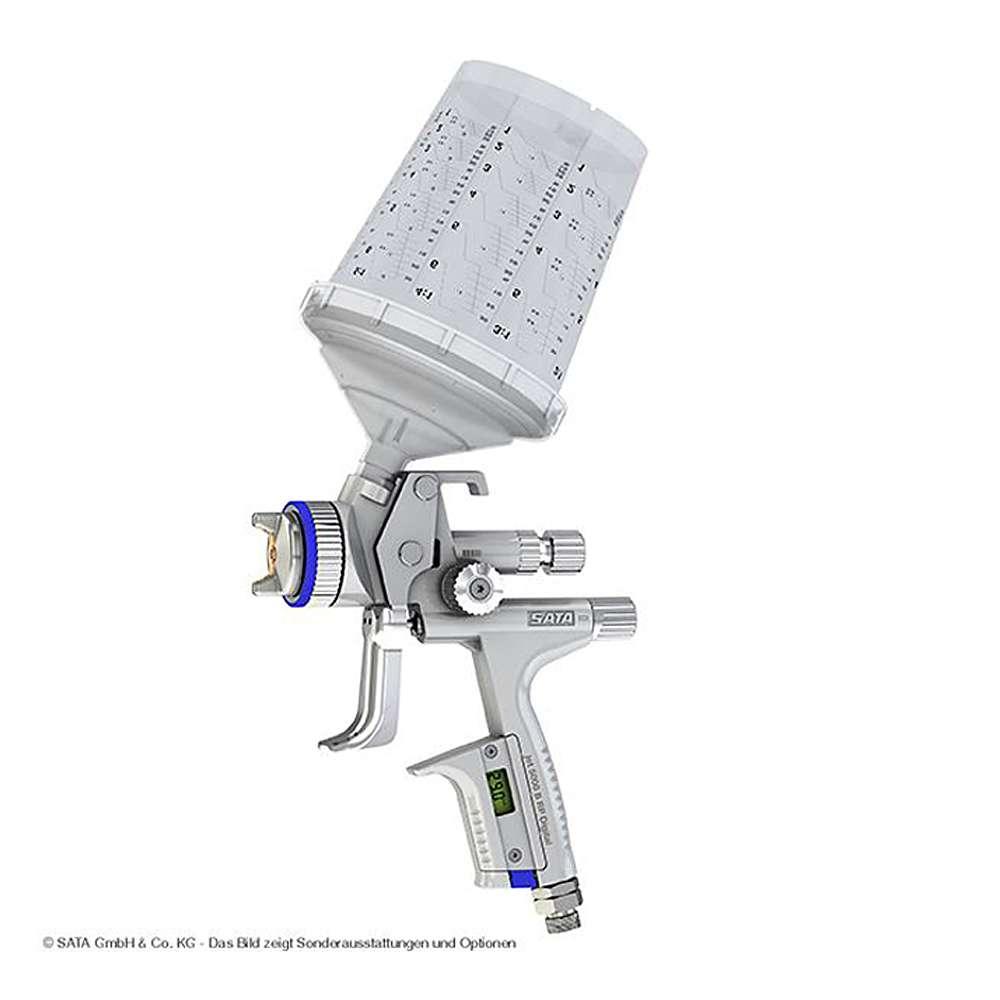 SATAjet 5000 B RP DIGITAL -  Lackierpistole - RPS Einwegbecher 0,3-0,9 l - mit Drehgelenk  - für KFZ, Maler, Tischler und Industrie
