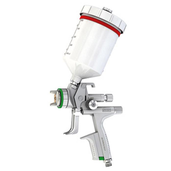 SATAjet 5000 B HVLP - Lackierpistole - 0,6 l QCC Kunststoff Fließbecher – für KFZ, Maler, Tischler und Industrie