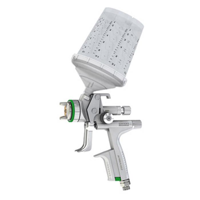 SATAjet 5000 B HVLP - Lackierpistole – RPS-Einwegbecher 0,3-0,9 l - mit Drehgelenk – für KFZ, Maler, Tischler und Industrie