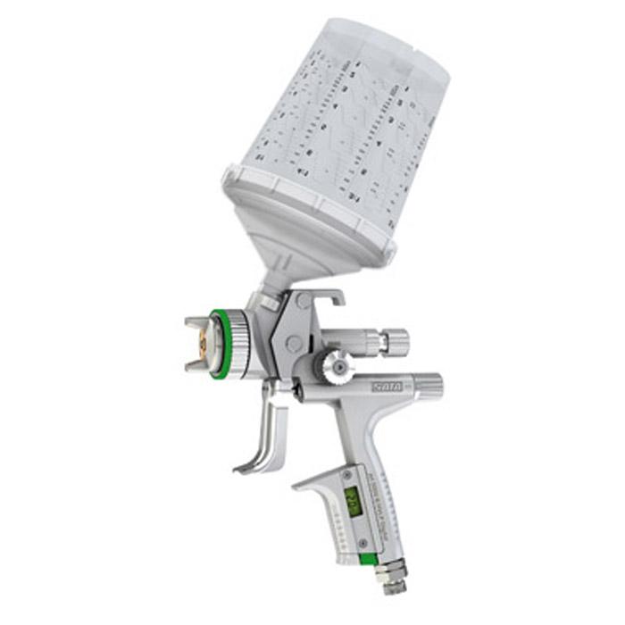 SATAjet 5000 B HVLP DIGITAL -  Lackierpistole - RPS Einwegbecher 0,3-0,9 l - mit Drehgelenk - für KFZ, Maler, Tischler und Industrie