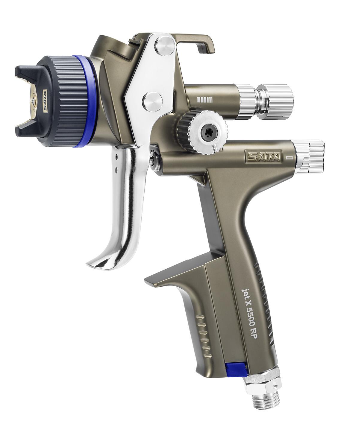 SATAjet X 5500 RP - Lackierpistole -  RPS-Einwegbecher 0,6 l / 0,9 l (je 1x) - mit Drehgelenk - für KFZ, Maler, Tischler und Industrie