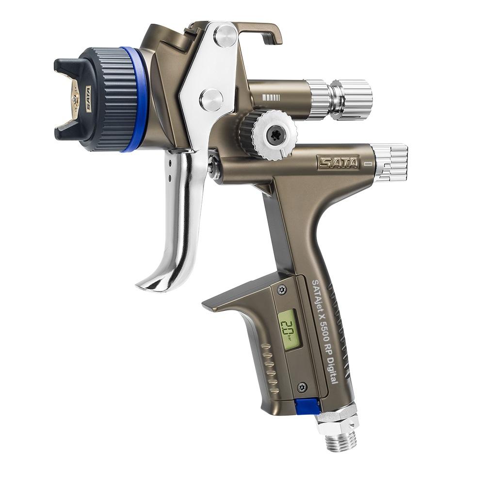 SATAjet X 5500 RP DIGITAL - Lackierpistole -  RPS-Einwegbecher 0,6 l / 0,9 l (je 1x) - mit Drehgelenk - für KFZ, Maler, Tischler und Industrie