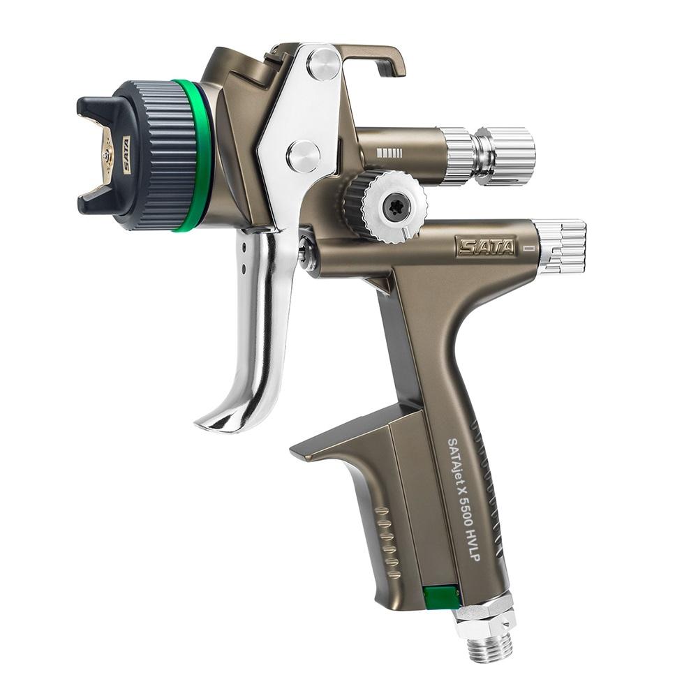 SATAjet X 5500 HVLP - Lackierpistole -  RPS-Einwegbecher 0,6 l / 0,9 l (je 1x) - mit Drehgelenk - für KFZ, Maler, Tischler und Industrie