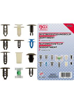Automotive mounting clip assortment - for Fiat - 308-tlg.