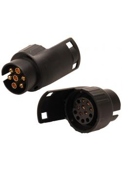 Adapter für Anhängerstecker - Kunststoffgehäuse - 7-auf-13 polig -