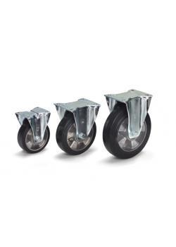 Hjul - elastiska däck - aluminiumfälgar - till 350 kg
