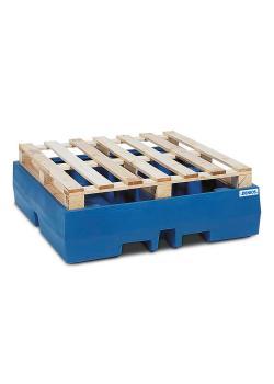 Auffangwanne PolySafe ECO - Polyethylen - Auffangvolumen 405 l - für 4 Fässer á 200 Liter