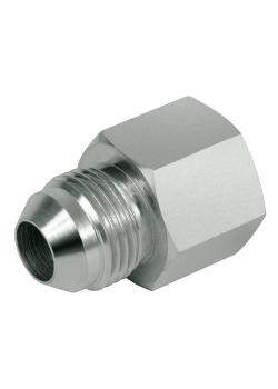 """Connection screw connection - steel chrome-plated - AG and IG in union nut UNF 9/16 """"to UN 1 7/8"""""""