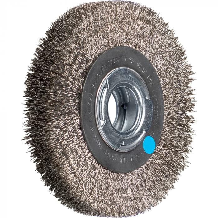 PFERD Rundbürste RBU - ungezopft - breit - industrieller Einsatz - INOX - Außen-ø 150 bis 250 mm - Bohrungs-ø 50,8 mm - Bo./Adapter AK 32-2 - Besatzmaterial-ø 0,30 mm