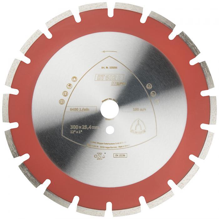 Diamanttrennscheibe DT 602 B - Durchmesser 300 bis 500 mm - Bohrung 25,4 mm - lasergeschweißt - weit verzahnt