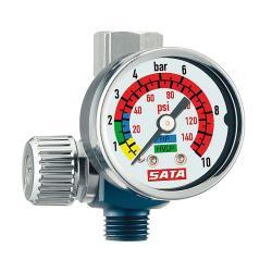 """SATA-Luftmikrometer - Druckmessung - mit Manometer - 1/4"""" (AG) und G 1/4"""" (IG)"""
