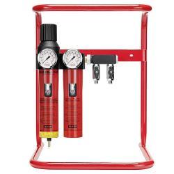 """SATA filter 444 mit Bodentrageständer - Filtertechnik - 2-stufiger Sinterfilter/Feinfilter mit Druckregler und Abgangsmodul (2 x 1/4"""" Außengewinde)"""