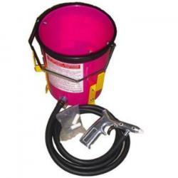 Injektor-Freistrahlgerät -11 l Plastikbehälter - min. 350 l/min Luftleistung - einfache Strahlpistole