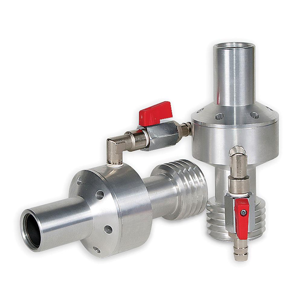 Feuchtstrahldüse - Wolframkarbid - Düsen- Ø 6,5 bis 9,5 mm - Länge 180 mm - Einlass 32 mm - 50 mm Gewinde