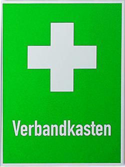 Emergency tecken förbandslåda + First Aid Cross