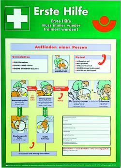 Anvisningar första hjälpen - affisch - plast