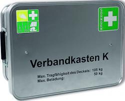 """Verbandkasten """"Feuerwehr/Rettungsd."""" - gefüllt - Alu - DIN 14142"""
