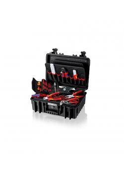 """Werkzeugkoffer """"Robust23"""" Elektro - aus Polypropylen - staub-, luft-, und wasserdicht - bestückt mit 25 Markenwerkzeugen - Fassungsvermögen 23 Liter"""