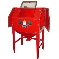 Stand-Strahlkabine in Mittelgröße - Luftleistung 350 l/min - 2 Seitentüren - Gewicht 59 kg