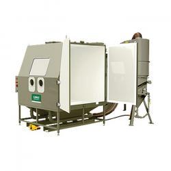 Druck-Strahlkabine BNP 601 - Zyklonabscheider und Filteranlage - Innenraum 1450 x 1450 x 1450 mm