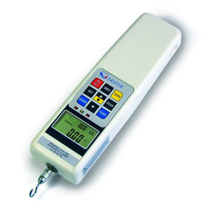 Kraftmessgerät - digital - max. Messbereich 2 bis 500 N - Ablesbarkeit [d] 0,001 bis 0,1 N