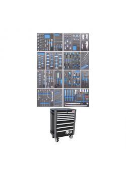 Wózki warsztatowe - Exclusive Professional - z 259 narzędzi - 19 Depozyty