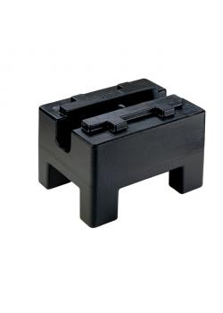 Kontrollvikt - 100 kg - blockform - tolerans +/- 5 g - lackerat gjutjärn