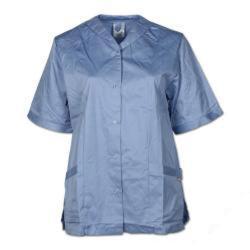 Kasack - Planam - 35/65% blandväv - storlek 48 - ljusblå