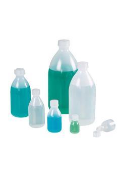Bioflaska smal hals PE - Grön LDPE - miljövänlig - med skruvlock - olika utföranden