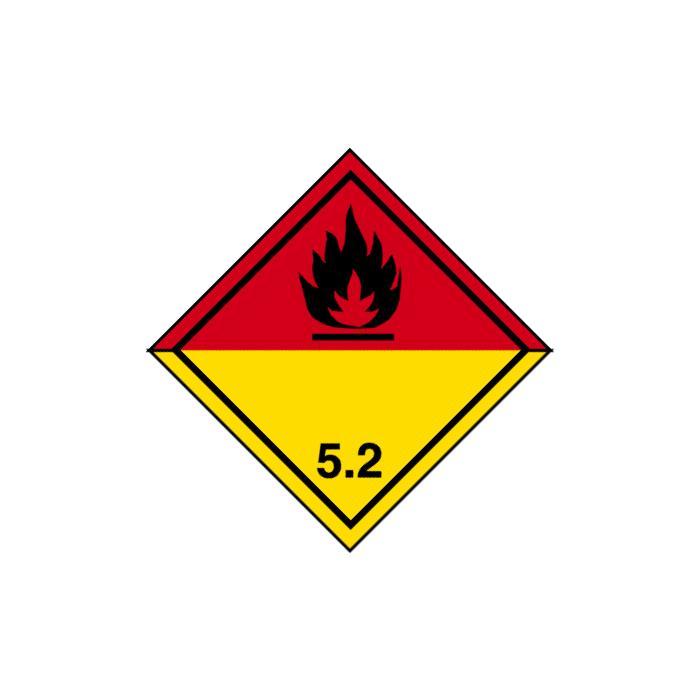 """Gefahrgutzeichen """"Organische Peroxide-Klasse 5"""""""