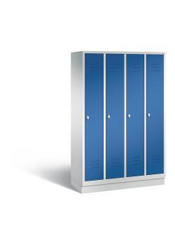 C+P Garderobenschrank Classic - Stahl - blau - mit Garderobenstange - H 1800 x B 1190 x T 500 mm