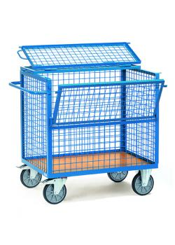 Wire mesh box truck - with wire mesh 50 x 50 x 4 mm - with cap