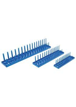 Hållare för hylsnyckelinsatser - 3 delar - plast