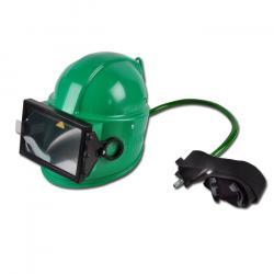 Strahlerhelm APOLLO 100 - grün - zur Montage an Schutzanzug Defender