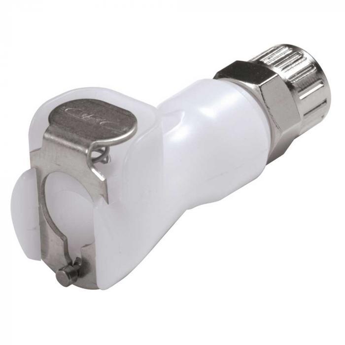 CPC Kupplung - NW 3,2 mm - POM oder PP - Mutterteile - mit Ventil - Schlauchkupplung mit Schlauchverschraubung - verschiedene Ausführungen