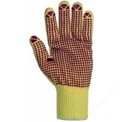 I residui - guanti Mittelstrick- - Kevlar giallo-rosso - 7 - manopole