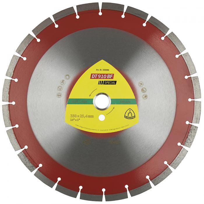 Diamanttrennscheibe DT 910 F - Durchmesser 300 bis 500 mm - Bohrung 25,4 mm - lasergeschweißt - eng verzahnt